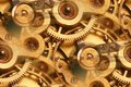 Antique watch inner workings abstract Royalty Free Stock Photo