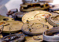 Antique watch parts Royalty Free Stock Photo