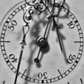 Antique watch seconds dial a matter of macro photograph of an second dials steampunk and vintage theme Royalty Free Stock Images