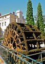 Antique Water Wheel. Provence, France Royalty Free Stock Photo