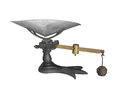 Antique weigh scale Isolated Royalty Free Stock Photo