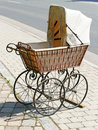 Antique Wicker Baby Carriage Royalty Free Stock Photo