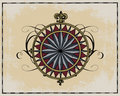 Antique wind rose Stock Photography