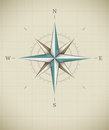 Antique wind rose symbol for navigation Royalty Free Stock Photo