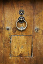Antique wood door Royalty Free Stock Photography