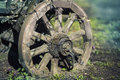 Antique Wood Wagon Wheel Royalty Free Stock Photo