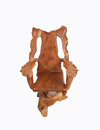 Antique wooden chair with isolated on white background. Royalty Free Stock Photo