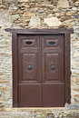 Antique wooden door Stock Photography