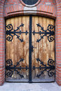 Antique Wooden Door Royalty Free Stock Photo