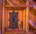 Vintage keyhole with an antique metal frame Royalty Free Stock Photo