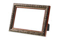 The antique wooden and gold frame Royalty Free Stock Photo