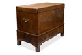 An Antique Wooden Trunk or Chest with Drawers Royalty Free Stock Photo