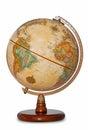 Antique World Globe Isolated C...