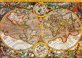 Antique World Map Royalty Free Stock Photography