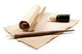Antique writing utensils Stock Photo