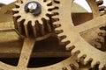 Antiqueclock gears macro Стоковые Изображения