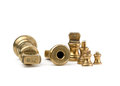 Antiques brass imperial weights Royalty Free Stock Photo