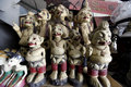 Antiques market various sold at an in the city of solo central java indonesia Stock Image