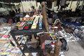 Antiques for sale merchants organize in the city of solo central java indonesia to meet Royalty Free Stock Photography