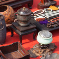 Antiques for sale at a stand Royalty Free Stock Photography