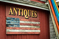Antiques Sign Royalty Free Stock Photo
