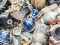 Antiquities at the flee-market Royalty Free Stock Photo