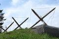 Antitank obstacles, Stalin line, Minsk, Belarus