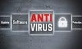Antivirus touchscreen concept background