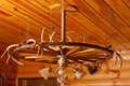 Antler Chandelier Stock Images