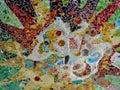 Antoni Gaudi ceramic ceiling mosaic design Royalty Free Stock Photo
