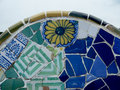 Antoni Gaudi ceramic mosaic design Royalty Free Stock Photo