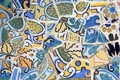 Antoni Gaudi work from Park Guell in Barcelona Royalty Free Stock Image