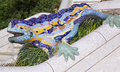 Antoni Gaudy's salamander, Park Guell in Barcelona, Spain Royalty Free Stock Photo