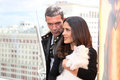 Antonio Banderas and Salma Hayek arriving at t Royalty Free Stock Photography