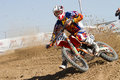 Antonio Butron in the Spanish championship MX Royalty Free Stock Photography