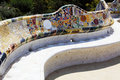 Antonio Gaudi - a bench in park Guell Royalty Free Stock Photo