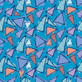 Antonio Gaudi mosaic. Triangle hand drawn vector pattern. Royalty Free Stock Photo