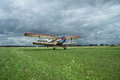 Antonov An-2 biplane takeoff Royalty Free Stock Photo
