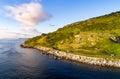 Antrim Coastal Road in Northern Ireland, UK Royalty Free Stock Photo