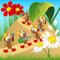 Ants builders with tools
