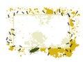 Ants and splatter frame Stock Photo