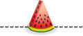 Ants on watermelon slice