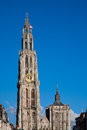 Antwerp cathedral of our lady in belgium Stock Photography
