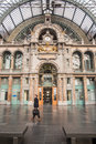 Antwerp Central Station ANTWERP- FEBRUARY 3rd. 2015