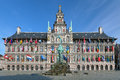Antwerp city hall and brabo fountain belgium on the great market square of Royalty Free Stock Images