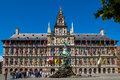 Antwerp city hall great market square belgium on in Stock Image