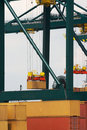 Antwerp container port Royalty Free Stock Photo