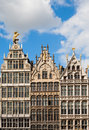Antwerp guild houses guildhouses at grote markt in belgium Royalty Free Stock Image