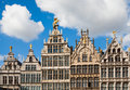 Antwerp guild houses guildhouses at grote markt in belgium Royalty Free Stock Photos