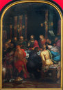 Antwerp last supper of christ by otto van veen from year in the cathedral of our lady on september belgium Stock Photos